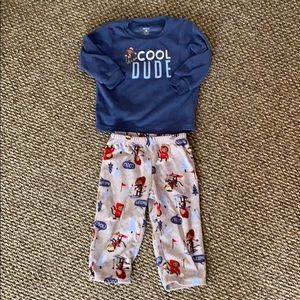 Carter's Baby Boy 2 Piece Fleece Pajama Set